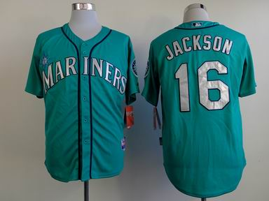 mlb seattle mariners 16 Jackson green jersey