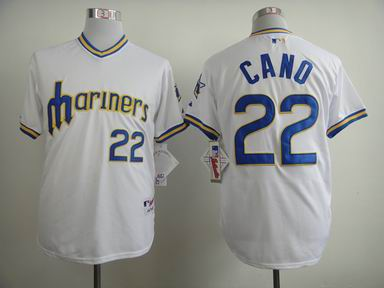 mlb seattle mariners 22 Cano white jersey