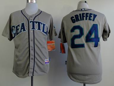 mlb seattle mariners 24 griffey grey jersey