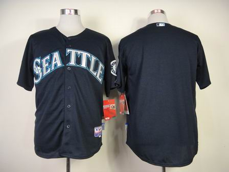mlb seattle mariners blank blue jersey