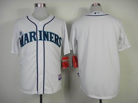 mlb seattle mariners blank white jersey
