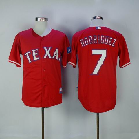 mlb texas rangers #7 Rodriguez red jersey