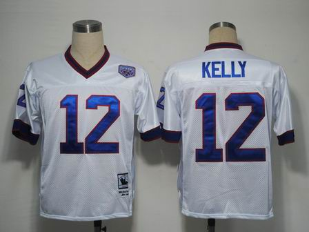 nfl Buffalo Bills 12 Kelly white throwback jersey