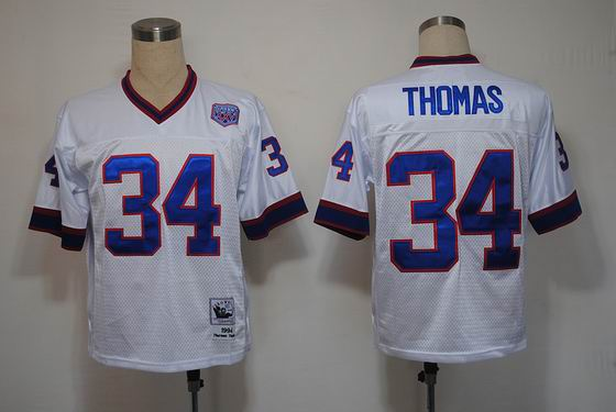 nfl Buffalo Bills 34 Thomas white throwback jersey