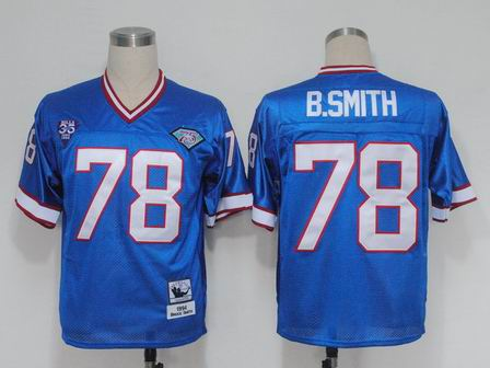 nfl Buffalo Bills 78 B.Smith blue throwback jersey
