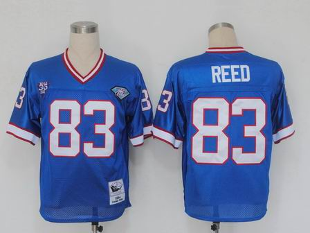 nfl Buffalo Bills 83 Reed blue throwback jersey