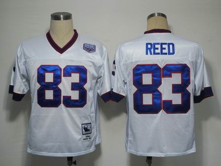 nfl Buffalo Bills 83 Reed white throwback jersey