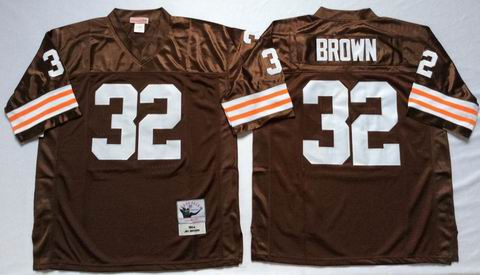 nfl Cleveland Browns #32 Brown brwon throwback Jersey
