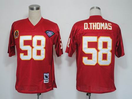 nfl Kansas City Chiefs 58 Derrick Thomas Throwback red Jersey 75th patch