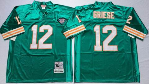 nfl Miami Dolphins 12 Bob Griese green throwback jersey