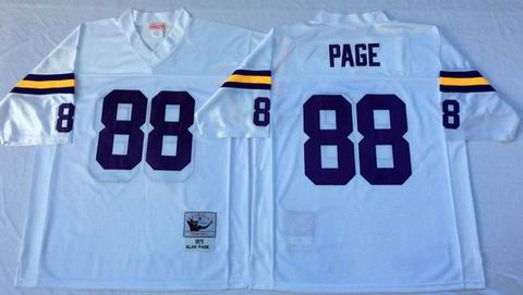 nfl Minnesota Vikings #88 Page white throwback jersey