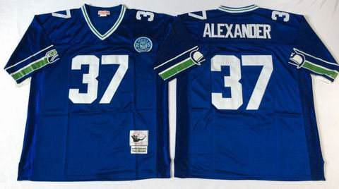 nfl Seattle Seahawks #37 Alexander blue throwback jersey