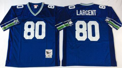 nfl Seattle Seahawks #80 Largent blue throwback jersey