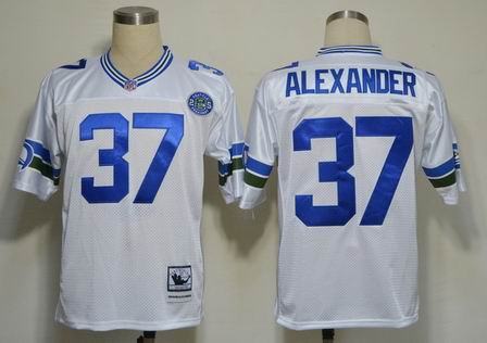 nfl Seattle Seahawks 37 Alexander white throwback jersey