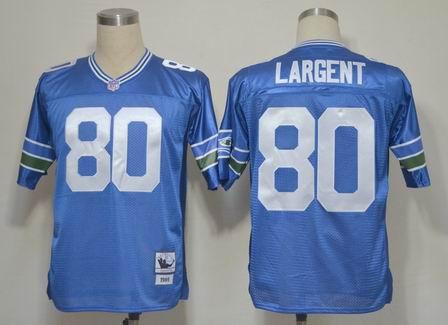 nfl Seattle Seahawks 80 Largent light blue throwback jersey