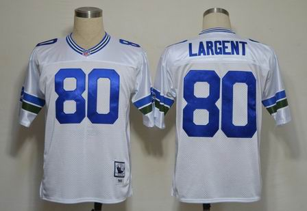 nfl Seattle Seahawks 80 Largent white throwback jersey