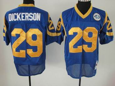 nfl St. Louis Rams 29 Dickerson blue throwback jersey