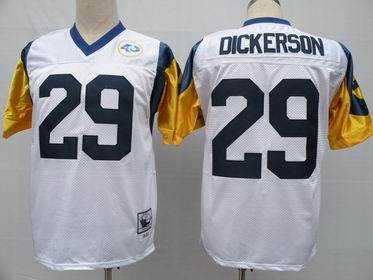nfl St. Louis Rams 29 Dickerson white throwback jersey