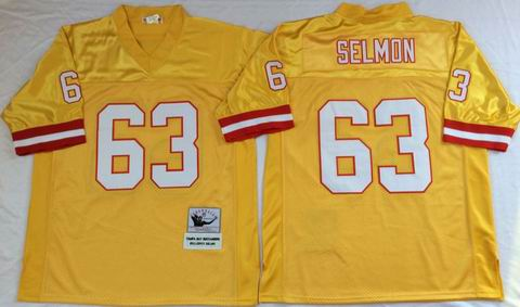 nfl Tampa Bay Buccaneers #63 Selmon yellow throwback jersey