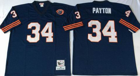 nfl chicago bears #34 payton blue throwback jersey