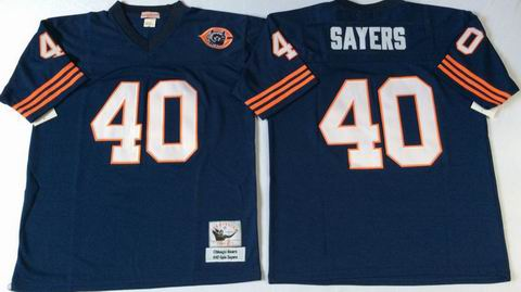 nfl chicago bears #40 sayers blue throwback jersey