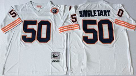 nfl chicago bears #50 Singletary white throwback jersey