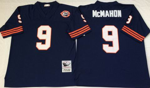 nfl chicago bears #9 McMAHON throwback blue jersey