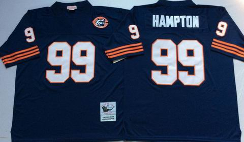 nfl chicago bears #99 Hampton blue throwback jersey
