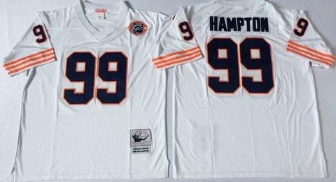 nfl chicago bears #99 Hampton white throwback jersey