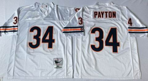nfl chicago bears 34 payton white throwback jersey