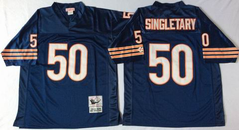 nfl chicago bears 50 Singletary blue throwback jersey