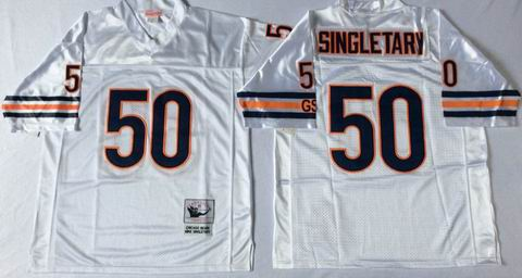 nfl chicago bears 50 Singletary white throwback jersey