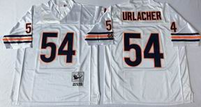 nfl chicago bears 54 Urlacher white throwback jersey