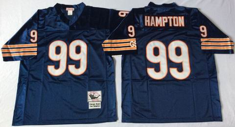 nfl chicago bears 99 Hampton blue throwback jersey