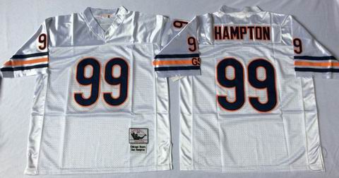 nfl chicago bears 99 Hampton white throwback jersey