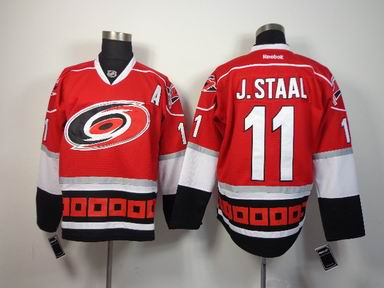 nhl Carolina hurricanes #11 J.Staal red jersey