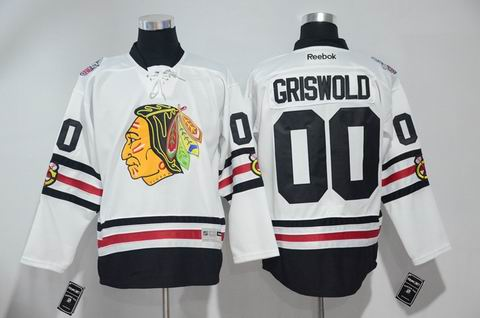nhl Chicago Blackhawks #00 Griswold white 2017 winter classic jersey
