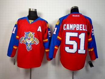 nhl Florida Panthers 51 Campbell red jersey A patch