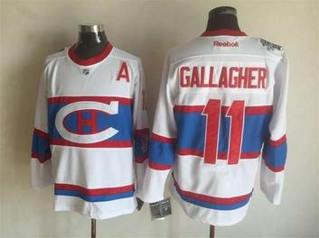 nhl Montreal Canadiens #11 Gallagher white jersey