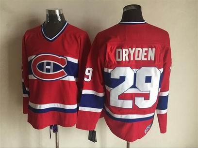 nhl Montreal Canadiens #29 Dryden red jersey