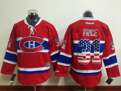nhl Montreal Canadiens 31 Price red jersey
