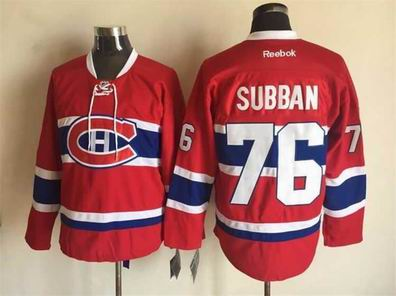 nhl Montreal Canadiens 76 Subban red jersey
