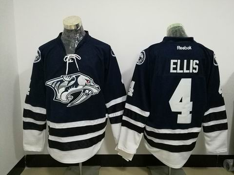 nhl Nashville Predators #4 ELLIS blue jersey