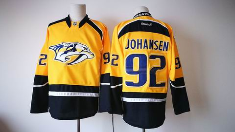 nhl Nashville Predators #92 JOHANSEN yellow jersey