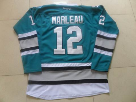 nhl San Jose Sharks #12 Marleau blue jersey