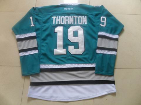 nhl San Jose Sharks #19 Thornton blue jersey