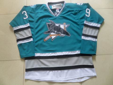 nhl San Jose Sharks #39 Couture blue jersey