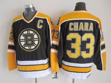 nhl boston bruins #33 Chara black jersey C patch