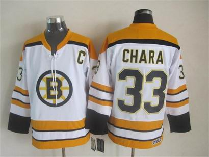 nhl boston bruins #33 Chara white jersey C patch