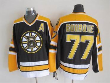 nhl boston bruins #77 Bourque black jersey A patch